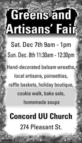 Greens And Artisans' Fair