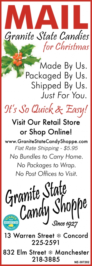 Mail Granite State Candy Shoppe For Christmas