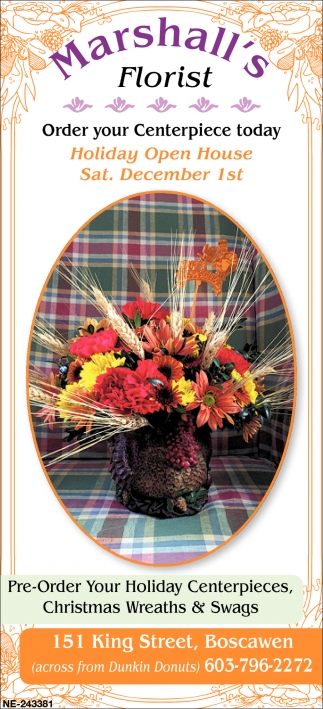 Order Your Centerpiece Today