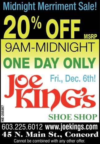 Local Shoe Store in Concord, NH | Joe King's Shoe Shop