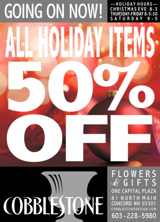 All Holiday Items 50% Off