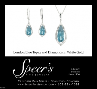 London Blue Topaz And Diamonds In White Gold