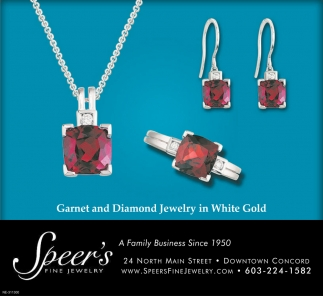 Garnet And Diamond Jewelry In White Gold