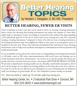Better Hearing Topics