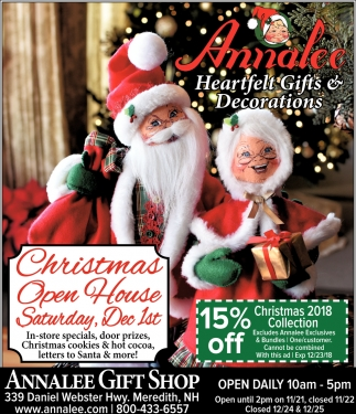 Christmas Open House, Annalee Gift Shop