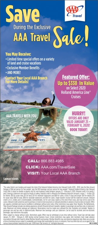 Save During The Exclusive AAA Travel Sale!