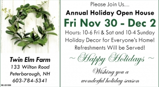 Annual Holiday Open House
