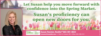 Let Susan Help You Move Forward