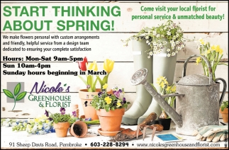 Start Thinking About Spring!