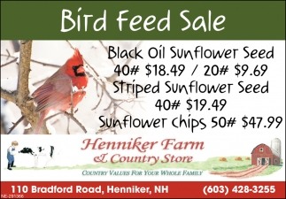 Bird Feed Sale