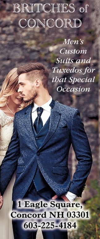 Men's Custom Suits And Tuxedos