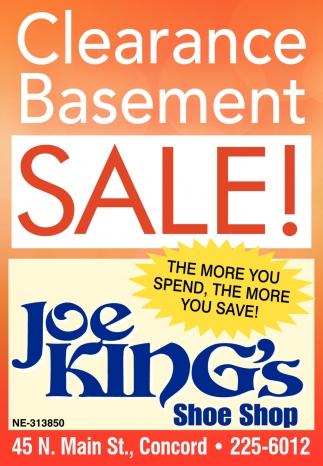 Clearance Basement Sale!