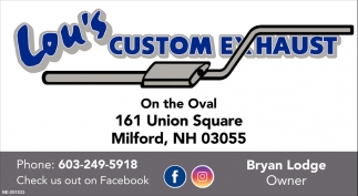 Lou'S Custom Exhaust >> Check Us Out On Facebook Lou S Custom Exhaust