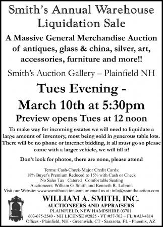 Smith's Annual Warehouse Liquidation Sale