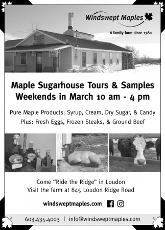 Maple Sugarhouse Tours & Samples