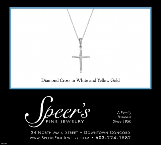 Diamond Cross In White And Yellow Gold