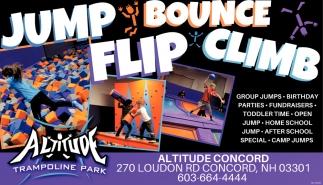 Jump, Bounce, Flip, Climb.