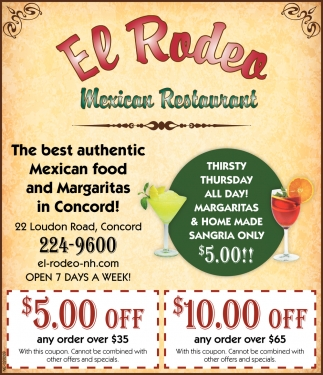The Best Authentic Mexican Food And Margaritas In Concord!