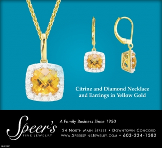 Citrine And Diamond Necklace And Earrings In Yellow Gold