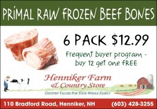 Primal Raw Frozen Beef Bones
