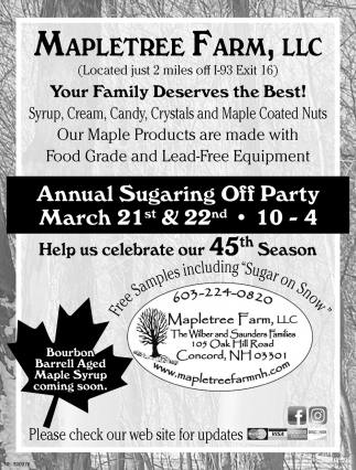 Annual Sugaring Off Party