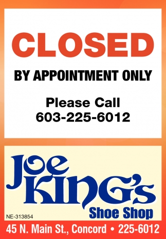 Closed By Appointment Only