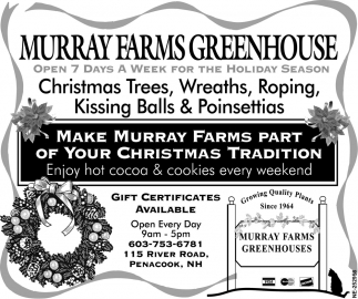 Make Murray Farms Part Of Your Tradition