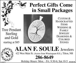 Perfect Gifts Come In Small Packages