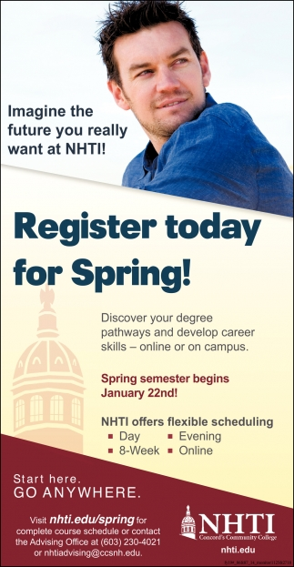 Register Today For Spring!