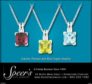 Garnet, Paridot And Blue Topaz Jewelry