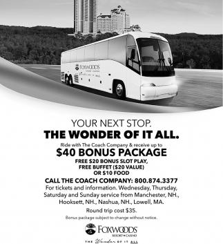 Foxwoods casino bus tours casino cruises daytona beach