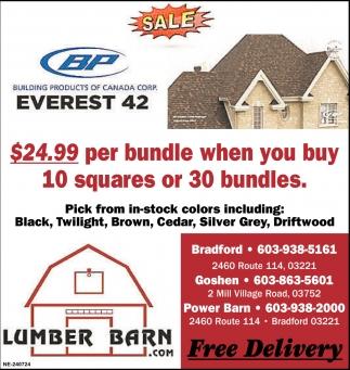 free delivery, lumber barn, bradford, nh
