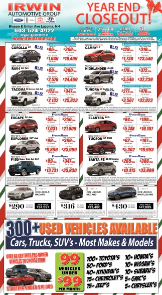 Year End Closeout!